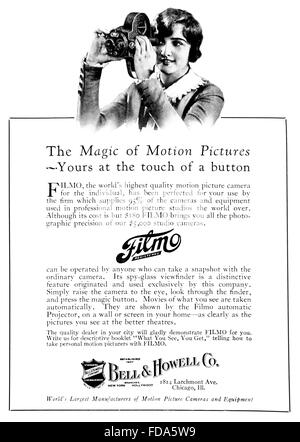 1920's advertisement for BELL & HOWELL CINE CAMERA sold by