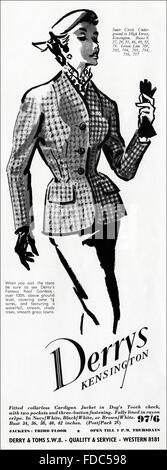 1950s advertising. Vintage original women's fashion