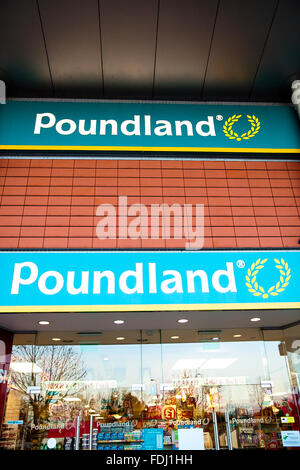 poundland discount shop in city of canterbury kent uk november 2015 Stock Photo: 90694259 - Alamy