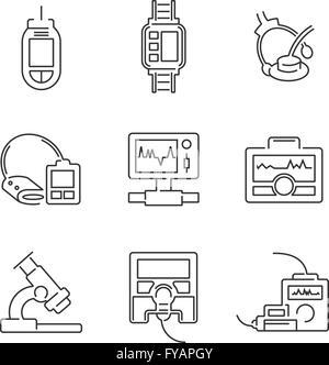 Medical Device Icon Set Stock Vector Art & Illustration