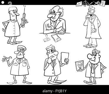 illustration, professional, injection, cartoon, occupation