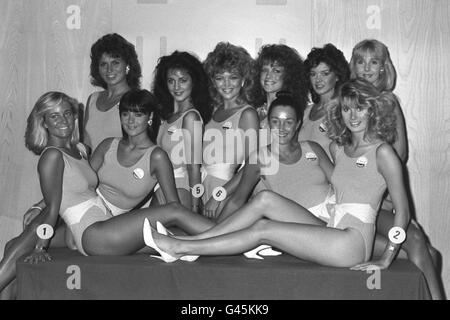 Beauty Contests  Miss UK  Brighton Stock Photo