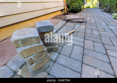 stone pavers and tiles side