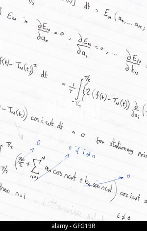 A Scientific Background with Mathematical Equations Stock