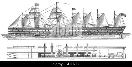 SS Great Eastern was an iron sailing steam ship designed