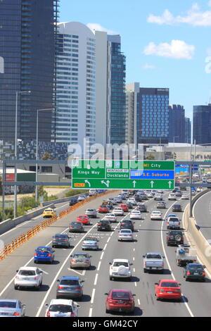 Melbourne's traffic jam on M1 Freeway in Melbourne Australia Stock Photo - Alamy