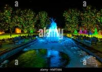 A frozen water fountain, A Hudson Christmas (holiday light ...