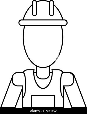 Supervisor icon vector male construction worker person