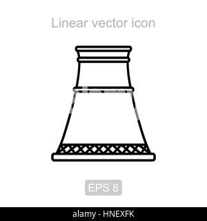 Nuclear power plant line icon concept. Nuclear power plant