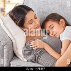 Sleeping Couch And Sofa Cape Town Bed Furniture Village Young Girls On At Home Stock Photo, Royalty ...