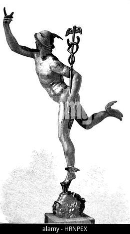 Mercury, Roman God Stock Photo, Royalty Free Image