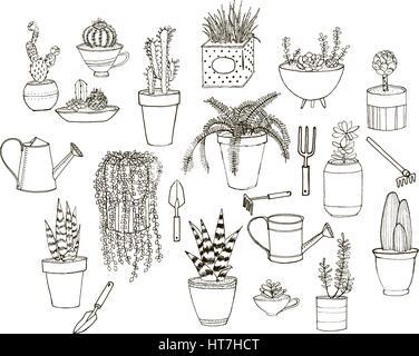 Cartoon doodle set of tools vector illustration Stock
