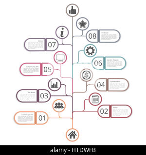 Tree diagram infographics template with place for your titles, text ...