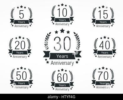 60th anniversary celebration badge label in golden color