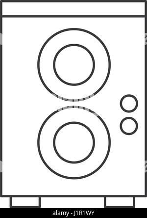 speaker sound volume pictogram Stock Vector Art