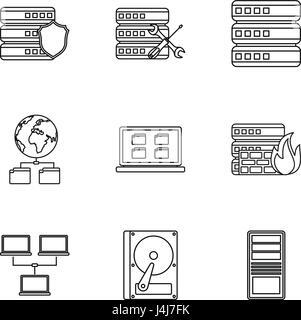 data input thin line icon, sign, symbol, illustation