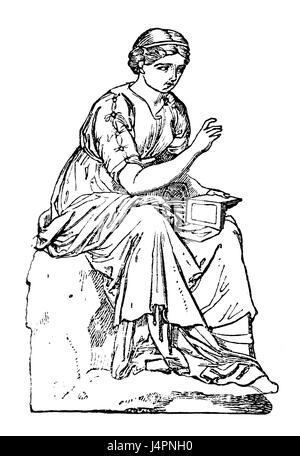 Calliope, Greek Muse of Epic Poetry Stock Photo: 135014038