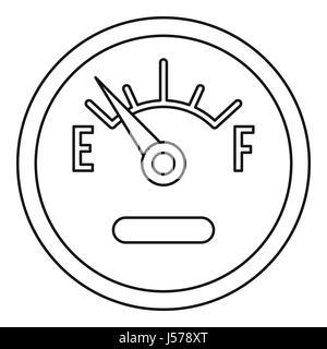 Car dashboard vector thin line stroke icon. Car dashboard