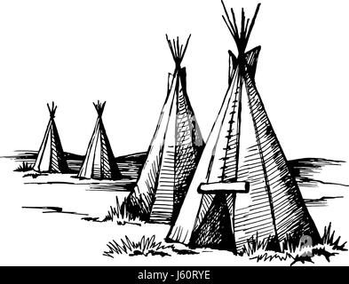 A Native American Indian Wigwam house in the Upper Midwest