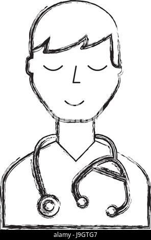 Set of Cartoon Medical Team (dentist, doctors and medical