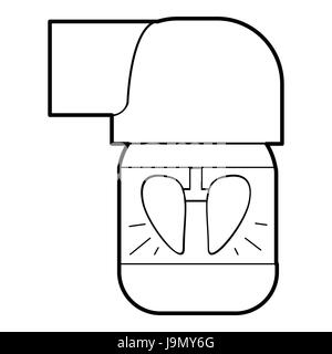 Drug inhaler for asthma icon vector illustration Stock