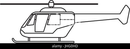 helicopter transport commercial outline Stock Vector Art