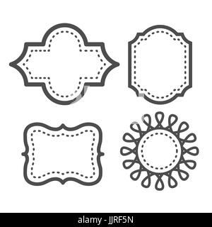 Cartoon doodle picture frame on a white background raster