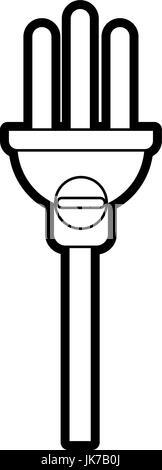 Electric Circuit Voltmeter. Flat Vector Icon. Simple black
