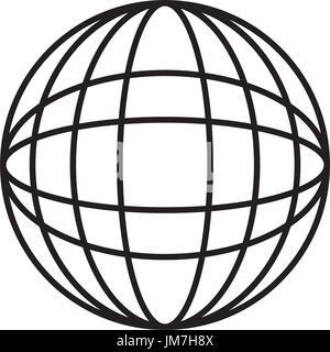 Network icon. Globalization icon black on white background