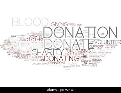 Fundraising word cloud concept. Vector illustration Stock