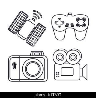 videocamera vector illustration Stock Vector Art