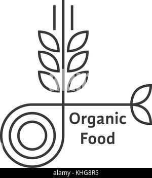 Agriculture wheat Logo Template vector icon design Stock
