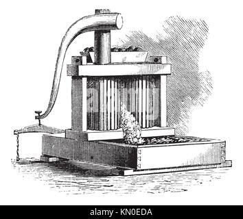 Old cider apple mill (cider press : granite stone and