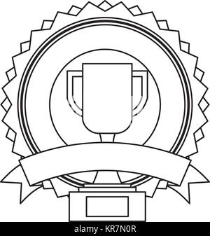 First place with wreath and ribbon banner Stock Vector Art