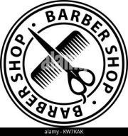 skull barber logo retro vintage