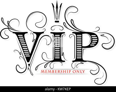 VIP only for members dark red and gold tones design