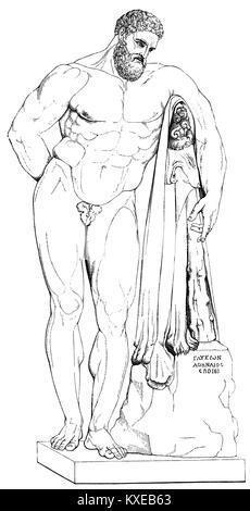 Hercules (Herakles), Greek hero, son of Zeus, killing the