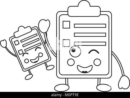 A cartoon clipboard, survey, form, exam, or questionnaire