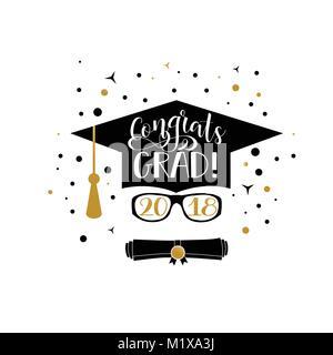 Template of the graduation class in 2018. Graduation