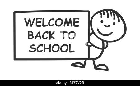 Back to school! Poster in comic sound. Educational comic