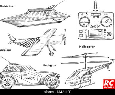 RC transport, remote control models. toys design elements