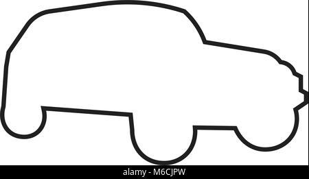 jeep wrangler silhouette on white background Stock Vector