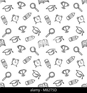 Graduation seamless pattern. Vector background for