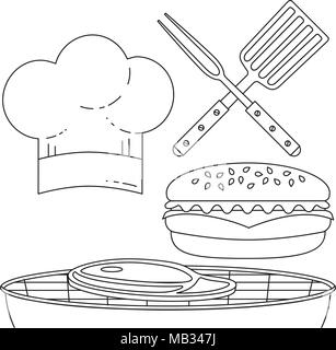 Halal food stamp sign black Stock Vector Art