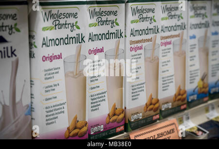 dairy products in a refrigerated shelf in a supermarket Stock Photo: 29680990 - Alamy