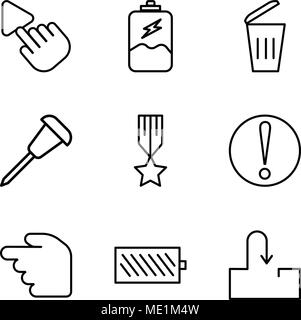 Set Of 9 simple editable icons such as Medal, Artificial