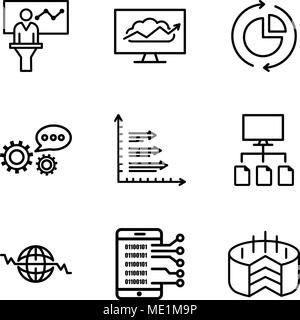 Information Flow Global Data Icon Stock Vector Art