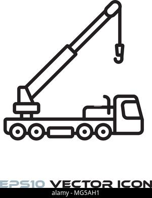 mobile truck crane icon vector graphic Stock Vector Art