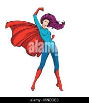 pin girl in purple blouse
