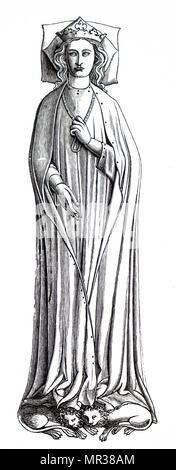 Eleanor of Castile, wife of King Edward I of England Stock